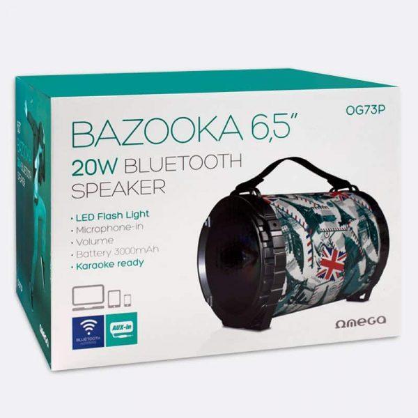 Altavoz Música Universal Bluetooth Omega Bazooka (20W) 4