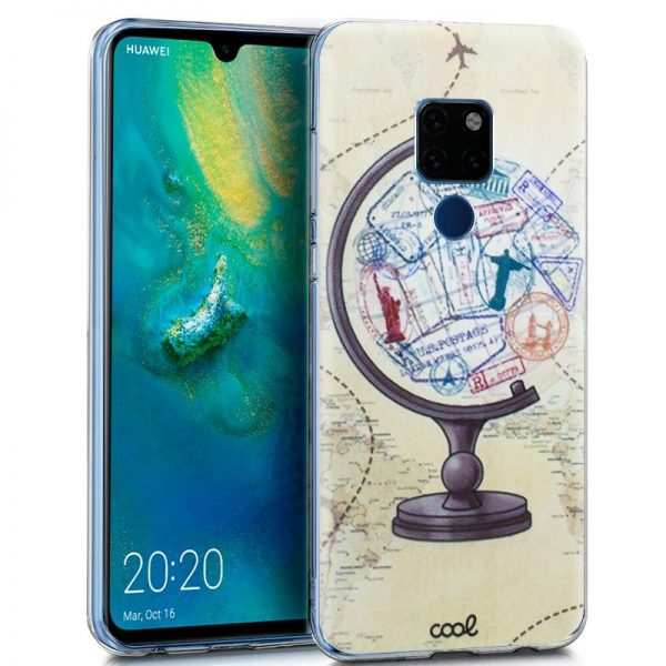 Carcasa Huawei Mate 20 Dibujos Mundo 1