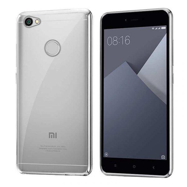 Carcasa Xiaomi Redmi Note 5A / Note 5A Prime Borde Metalizado (Plata) 1