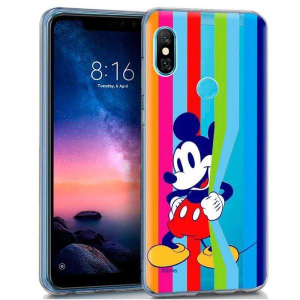 Carcasa Xiaomi Redmi Note 6 Pro Licencia Disney Mickey 1