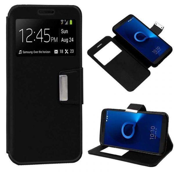 Funda Flip Cover Alcatel 3 / 3L Liso Negro 1