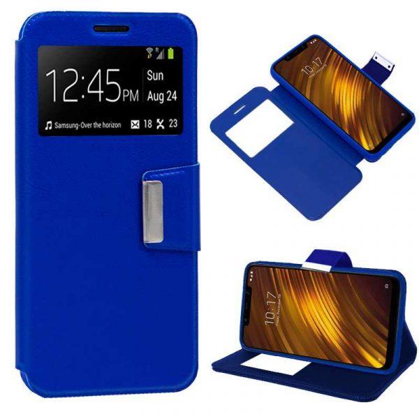 Funda Flip Cover Xiaomi Pocophone F1 Liso Azul 1