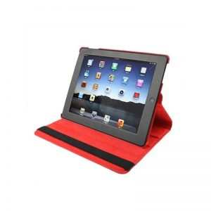 Funda iPad 2 / iPad 3 / 4 Giratoria Polipiel color Rojo (Soporte) 3
