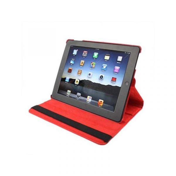 Funda iPad 2 / iPad 3 / 4 Giratoria Polipiel color Rojo (Soporte) 2