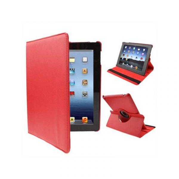 Funda iPad 2 / iPad 3 / 4 Giratoria Polipiel color Rojo (Soporte) 1
