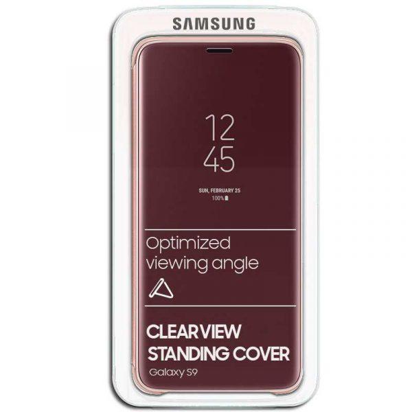Funda Original Samsung G960 Galaxy S9 Clear View Salmón (Con Blister) 1