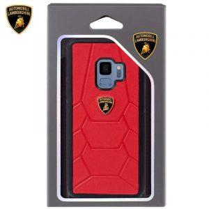 Carcasa Samsung G960 Galaxy S9 Licencia Lamborghini Piel Rojo 5