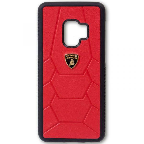Carcasa Samsung G960 Galaxy S9 Licencia Lamborghini Piel Rojo 3