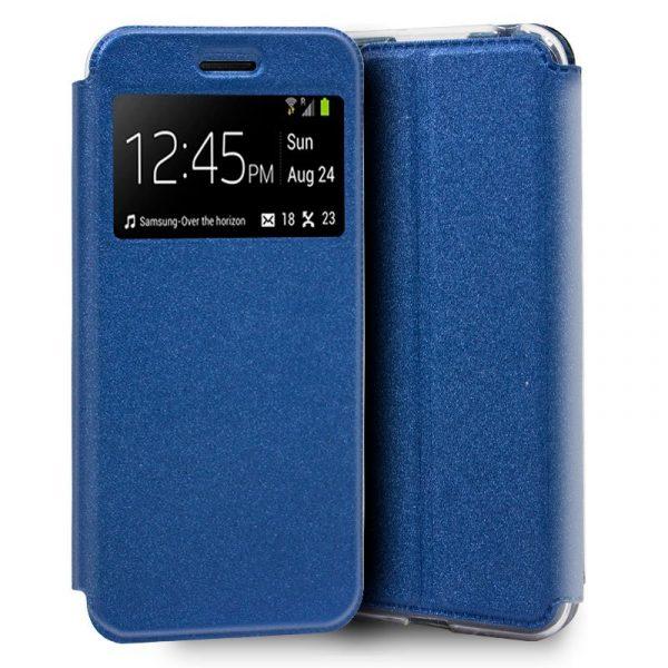 Funda Flip Cover Huawei Y5 2019 Liso Azul 1