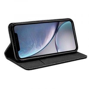Funda Con Tapa iPhone XR Liso Negro 4