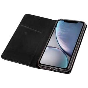 Funda Con Tapa iPhone XR Liso Negro 5