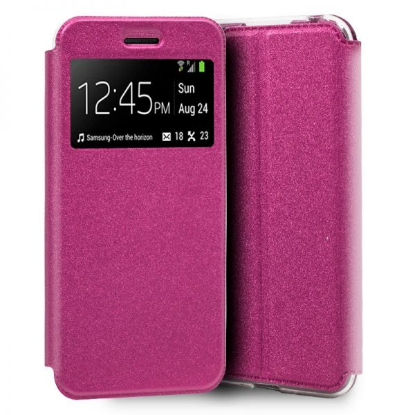 Funda Flip Cover Samsung A105 Galaxy A10 Liso Rosa 1