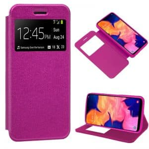 Funda Flip Cover Samsung A105 Galaxy A10 Liso Rosa 3
