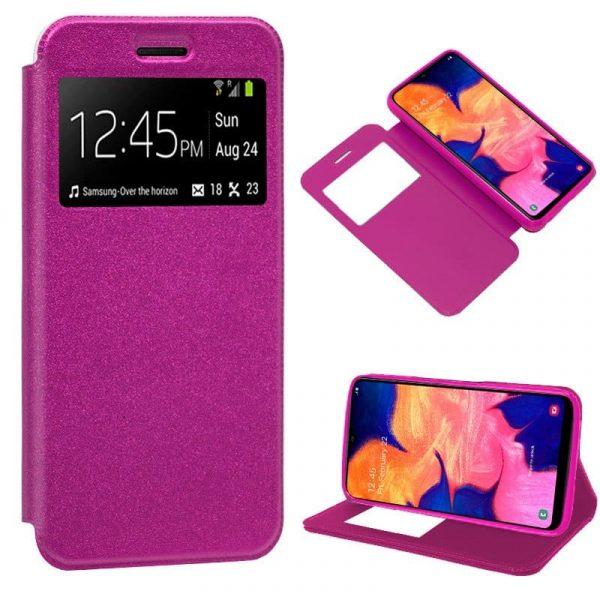 Funda Flip Cover Samsung A105 Galaxy A10 Liso Rosa 2