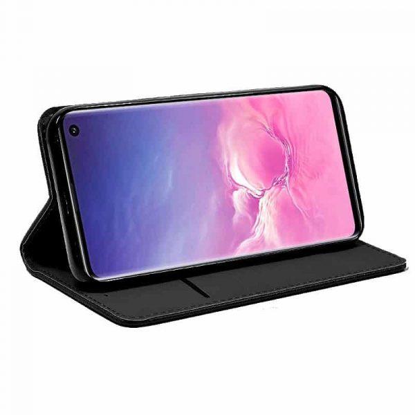 Funda Con Tapa Samsung Galaxy S10e Liso Negro 2