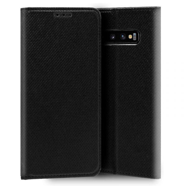Funda Con Tapa Samsung Galaxy S10 Liso Negro 1