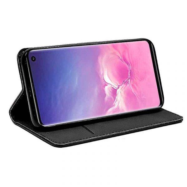 Funda Con Tapa Samsung Galaxy S10 Liso Negro 2