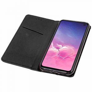 Funda Con Tapa Samsung Galaxy S10 Liso Negro 5