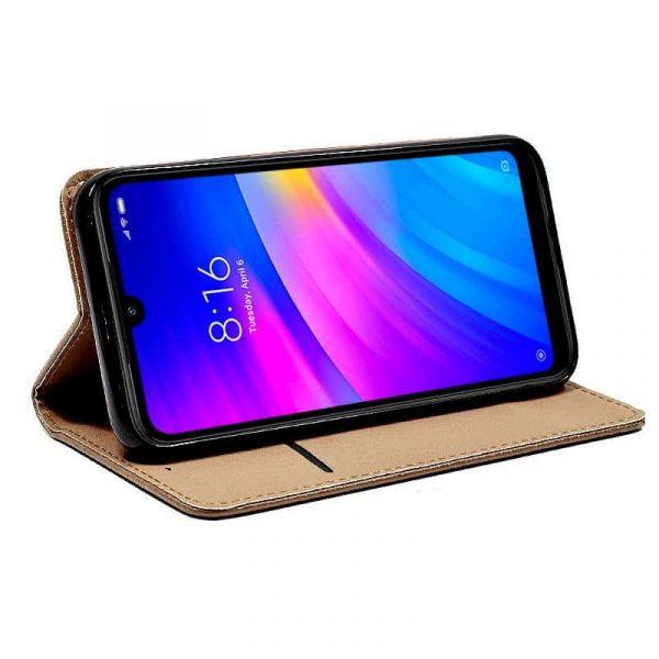 Funda Con Tapa Xiaomi Redmi 7 Liso Beige 2