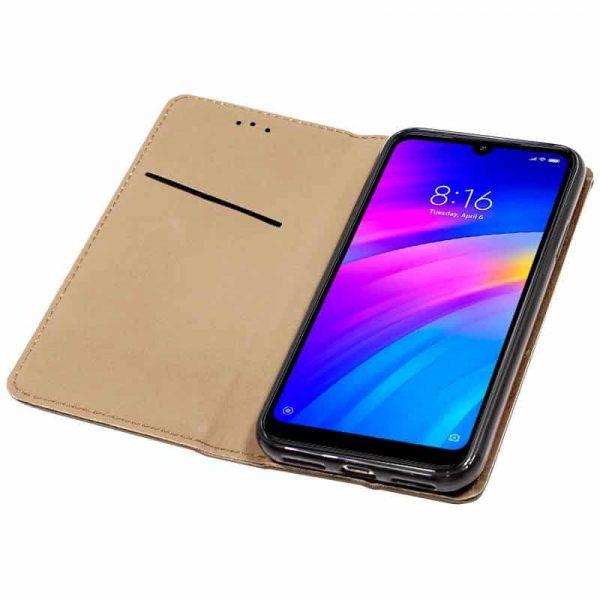Funda Con Tapa Xiaomi Redmi 7 Liso Beige 3