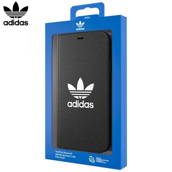 Funda Con Tapa iPhone XR Licencia Adidas Negro 1