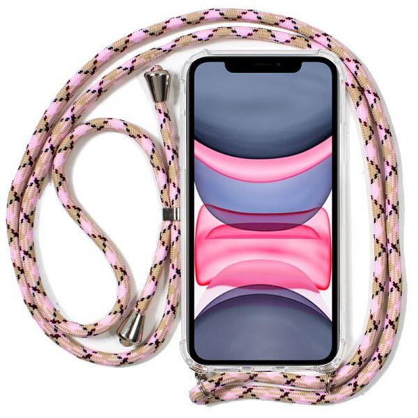 Carcasa iPhone 11 Cordón Rosa 1