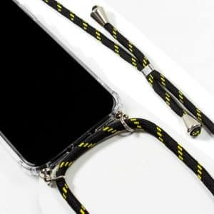 Carcasa iPhone 11 Pro Max Cordón Negro-Amarillo 4