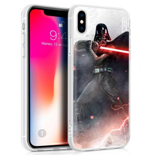 Carcasa iPhone X / iPhone XS Licencia Star Wars Darth Vader 1